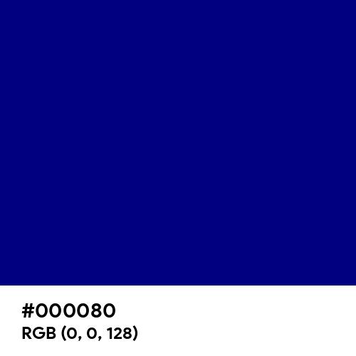 Navy (Hex code: 000080) Thumbnail