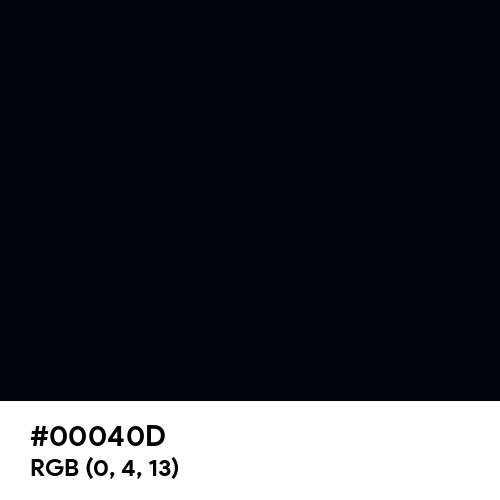 Midnight Black (Hex code: 00040D) Thumbnail