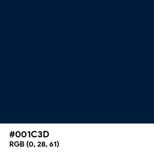Maastricht Blue (Hex code: 001C3D) Thumbnail