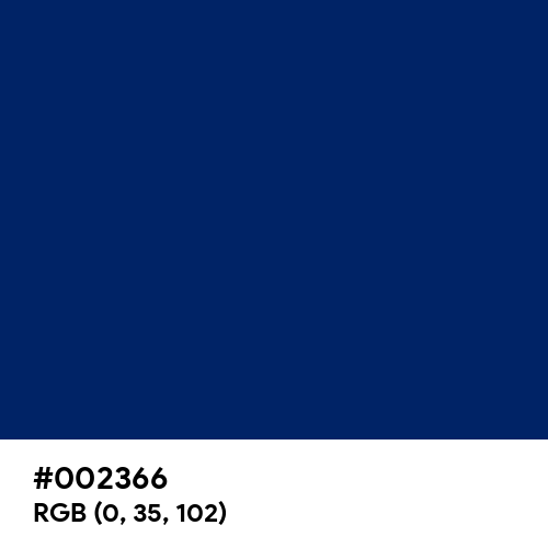 Royal Blue (Traditional) (Hex code: 002366) Thumbnail