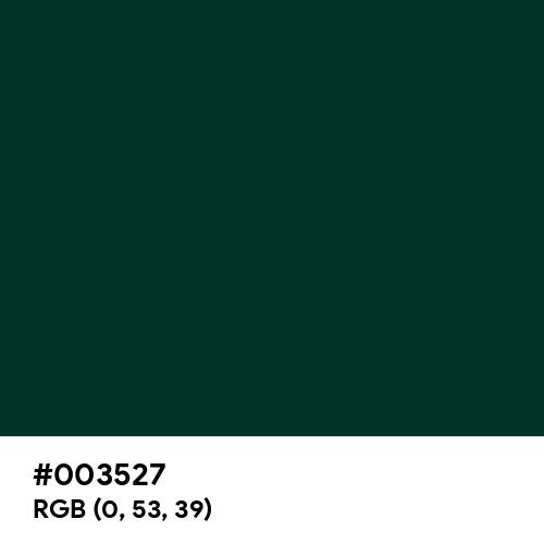 Sacramento State Green (Hex code: 003527) Thumbnail