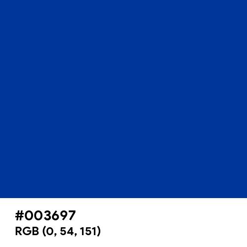 Blue Galaxy (Hex code: 003697) Thumbnail