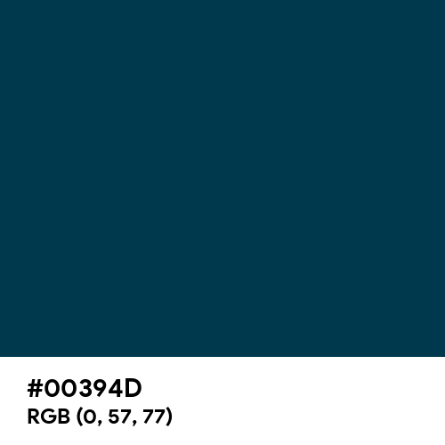 Prussian Blue (Hex code: 00394D) Thumbnail
