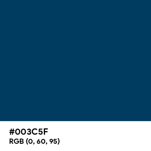 Deep Ocean Blue (Hex code: 003C5F) Thumbnail