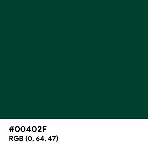 British Racing Green (Hex code: 00402F) Thumbnail