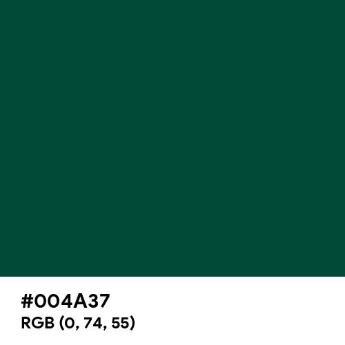 Blue-Green (Color Wheel) (Hex code: 004A37) Thumbnail