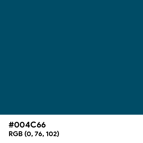 Ateneo Blue (Hex code: 004C66) Thumbnail