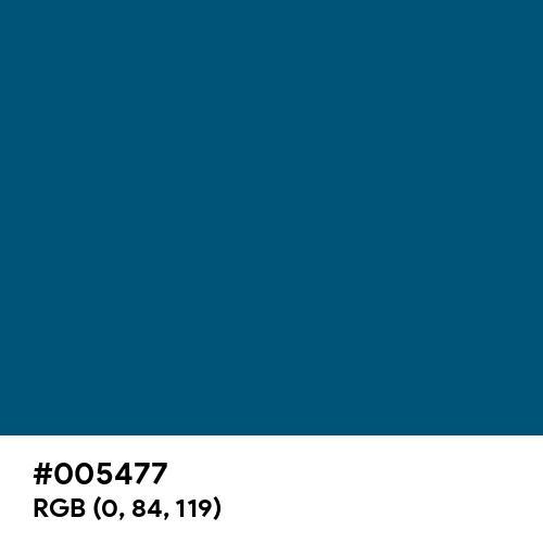 Ocean Blue (Hex code: 005477) Thumbnail