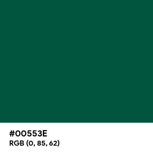 Castleton Green (Hex code: 00553E) Thumbnail