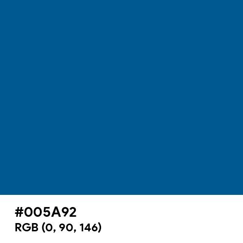 Imperial Blue (Pantone) (Hex code: 005A92) Thumbnail