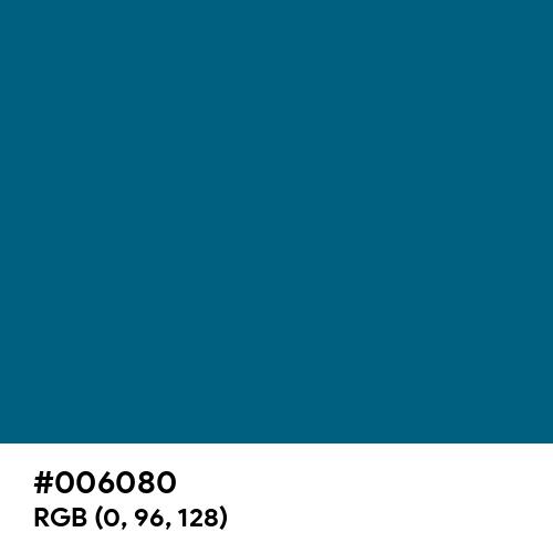 Blue Sapphire (Hex code: 006080) Thumbnail