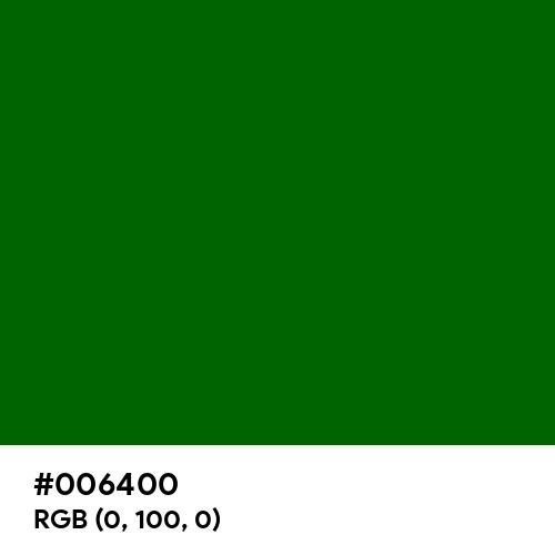 Dark Green (Hex code: 006400) Thumbnail