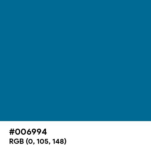 Sea Blue (Hex code: 006994) Thumbnail
