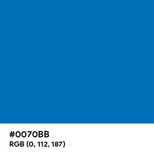 Spanish Blue (Hex code: 0070BB) Thumbnail