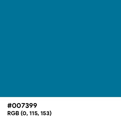Sea Blue (Hex code: 007399) Thumbnail