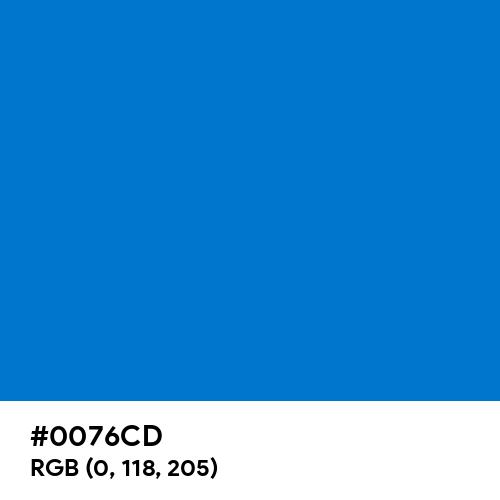 True Blue (Hex code: 0076CD) Thumbnail