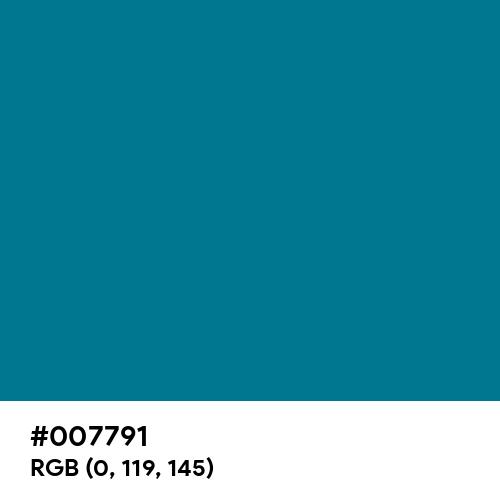 Duck Blue (Hex code: 007791) Thumbnail