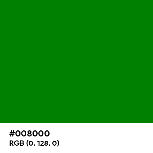 Green (Hex code: 008000) Thumbnail