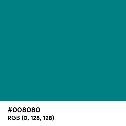 Teal (Hex code: 008080) Thumbnail