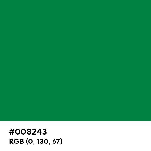 Philippine Green (Hex code: 008243) Thumbnail