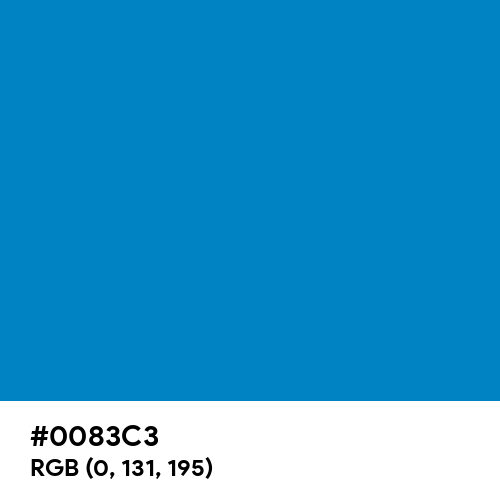 Process Blue (Hex code: 0083C3) Thumbnail