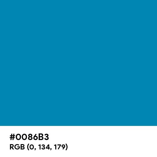 Blue (NCS) (Hex code: 0086B3) Thumbnail