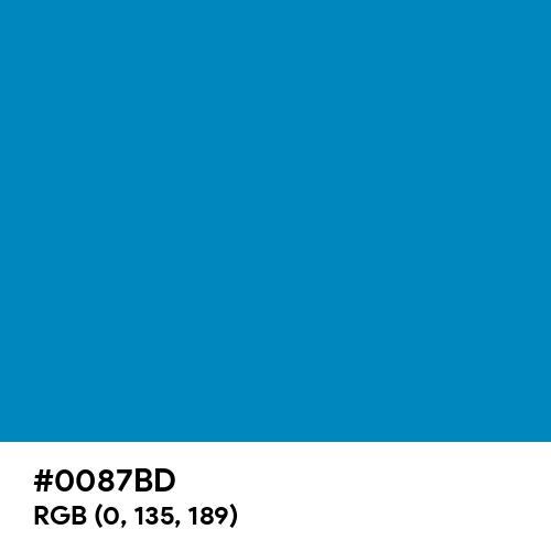 Blue (NCS) (Hex code: 0087BD) Thumbnail