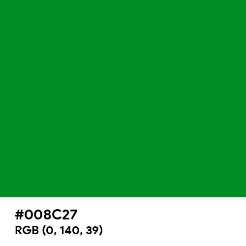 Pure Green (RAL) (Hex code: 008C27) Thumbnail