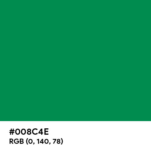 Green Bee (Hex code: 008C4E) Thumbnail