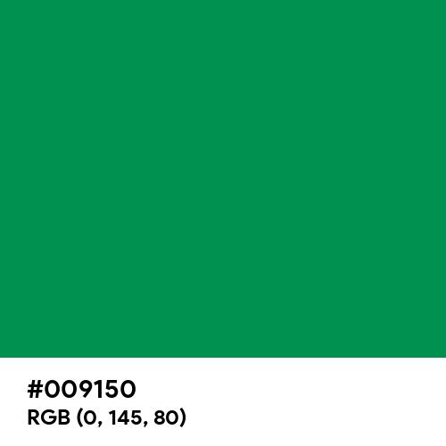 Spanish Green (Hex code: 009150) Thumbnail