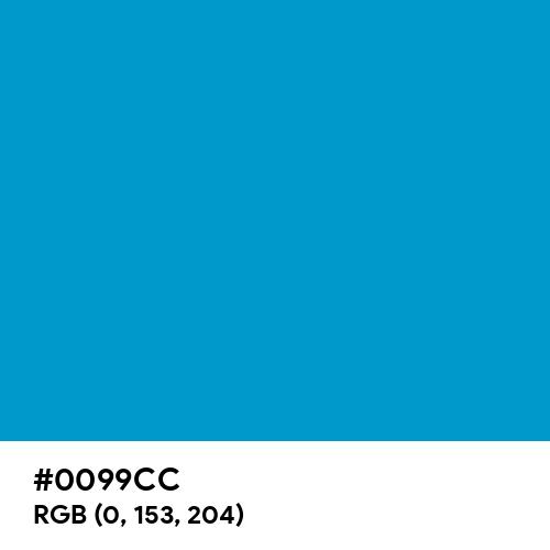 Rich Electric Blue (Hex code: 0099CC) Thumbnail