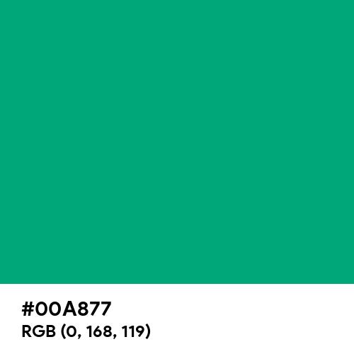 Green (Munsell) (Hex code: 00A877) Thumbnail