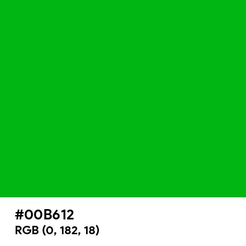 Luminous Green (Hex code: 00B612) Thumbnail