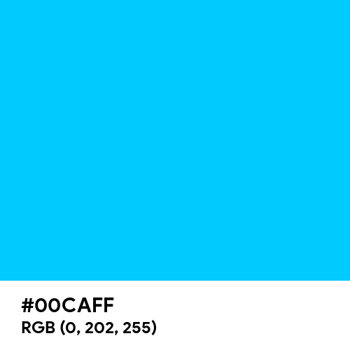 Amazon Alexa Blue (Hex code: 00CAFF) Thumbnail