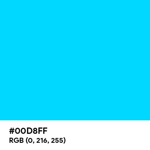 Vivid Sky Blue (Hex code: 00D8FF) Thumbnail