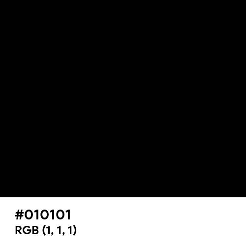 Vivid Black (Hex code: 010101) Thumbnail