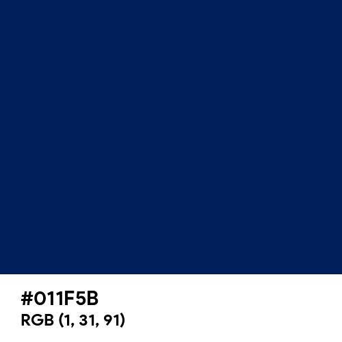 Penn Blue (Hex code: 011F5B) Thumbnail
