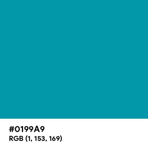 Blue (Munsell) (Hex code: 0199A9) Thumbnail