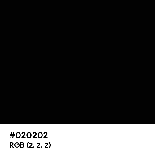 Rich Black (FOGRA39) (Hex code: 020202) Thumbnail