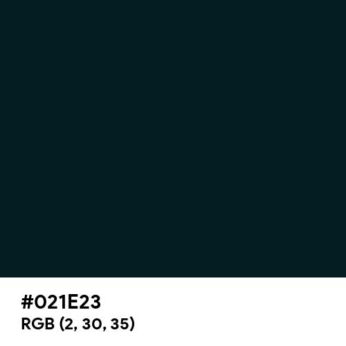 Dark Green (Hex code: 021E23) Thumbnail