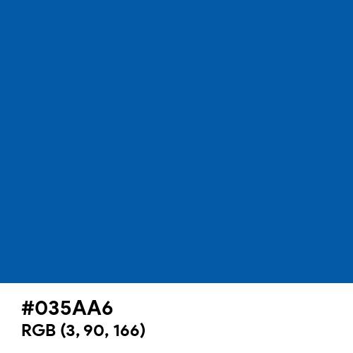 Medium Persian Blue (Hex code: 035AA6) Thumbnail