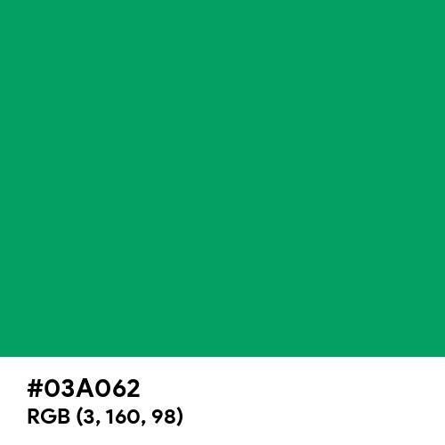 Matrix Green (Hex code: 03A062) Thumbnail