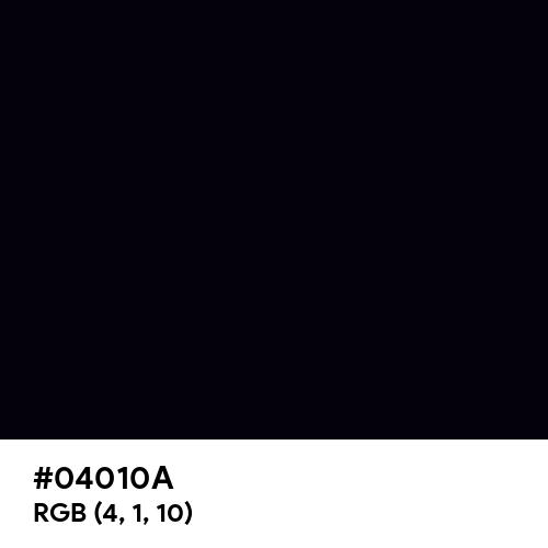 Rich Black (FOGRA39) (Hex code: 04010A) Thumbnail
