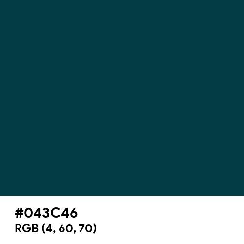 Rich Black (Hex code: 043C46) Thumbnail