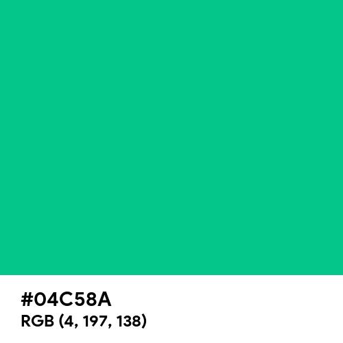 Caribbean Green (Hex code: 04C58A) Thumbnail