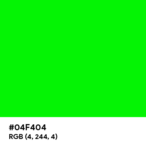 Green Screen (Hex code: 04F404) Thumbnail