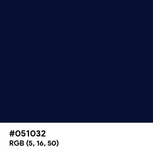 Cetacean Blue (Hex code: 051032) Thumbnail