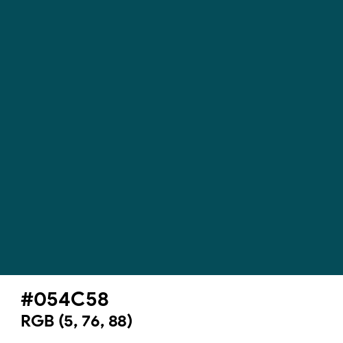 Midnight Green (Eagle Green) (Hex code: 054C58) Thumbnail