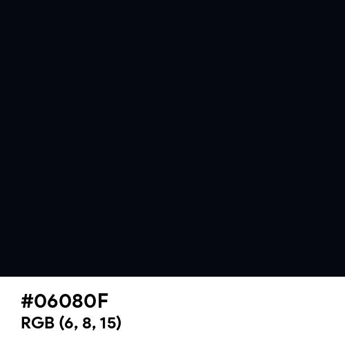 Ink Black (Hex code: 06080F) Thumbnail