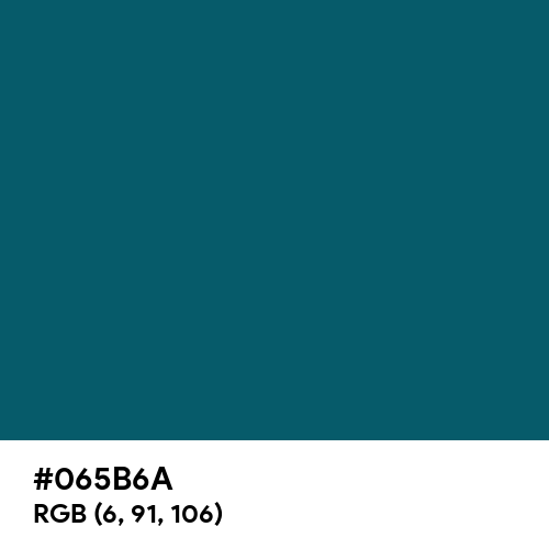 Blue Sapphire (Hex code: 065B6A) Thumbnail